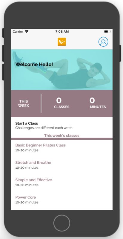 take pilates from your iphone
